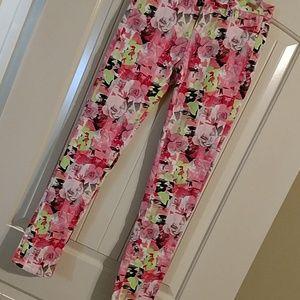 Justice Bottoms - Justice premium floral print stretch jeans.